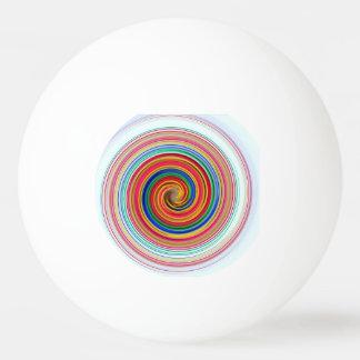 Balle Tennis De Table Remous de couleur primaire