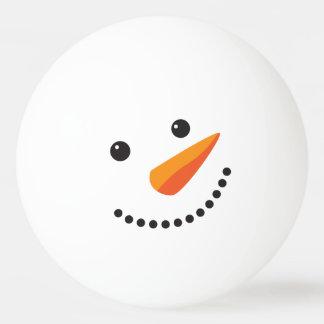 Balle Tennis De Table Visage givré de ping-pong de bonhomme de neige de