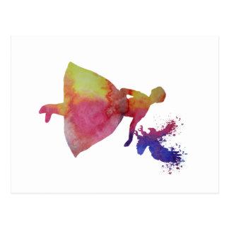 Ballerine avec l'aigle carte postale