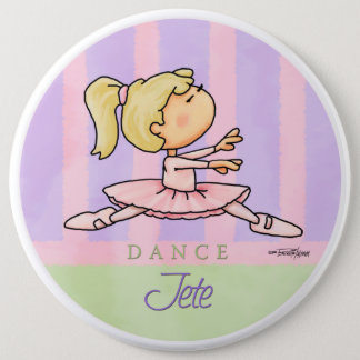 Ballerine de Prima Jete - bouton de ballet Badge Rond 15,2 Cm