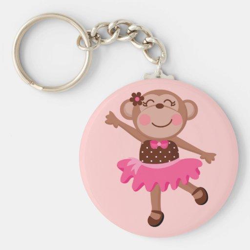 Ballerine de singe porte-clé