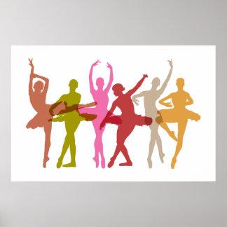 Ballerines colorées de danse