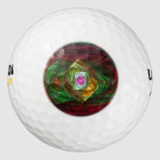 Balles De Golf Art abstrait de connexions dynamiques