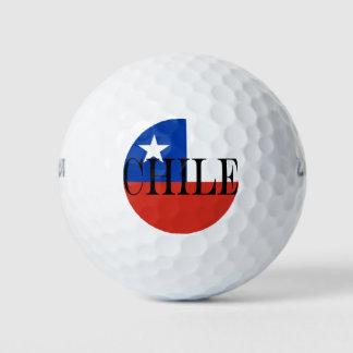 Balles De Golf Drapeau du Chili