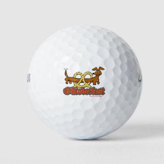 Balles De Golf Oktoberfest-Bande-Bretzel-Doxie