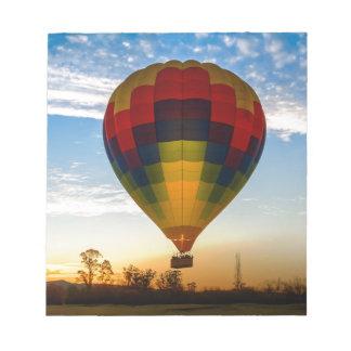 Ballon à air chaud blocs notes
