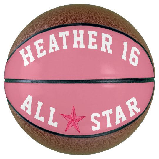 3972ae6137d0d Ballon De Basket Allstar rose | Zazzle.be