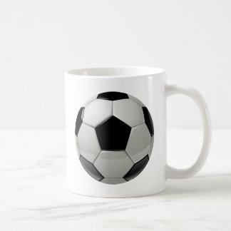 Ballon de football du football mug blanc