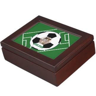 Ballon de football et modèle photo personnalisés boîte à souvenirs