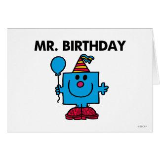 Ballon de joyeux anniversaire de M. Birthday | Carte De Vœux