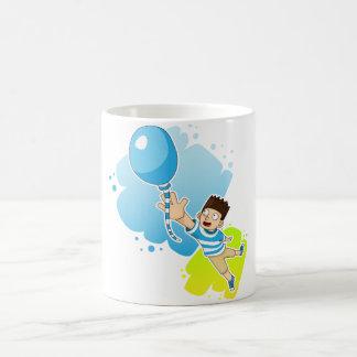 ballon et enfant mug blanc