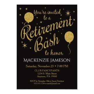 Ballons de fête d'or de partie d'invitation de carton d'invitation  12,7 cm x 17,78 cm