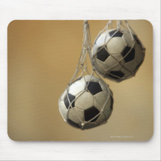 Ballons de football accrochants tapis de souris