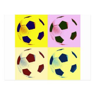 Ballons de football d'art de bruit carte postale