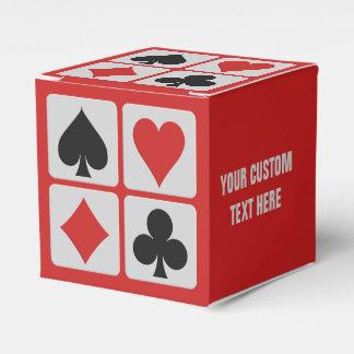 Ballotin de coutume de joueur de carte boites de faveur