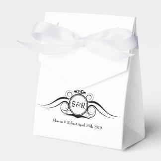 Ballotin élégant de cadeau de monogramme ballotins de dragées