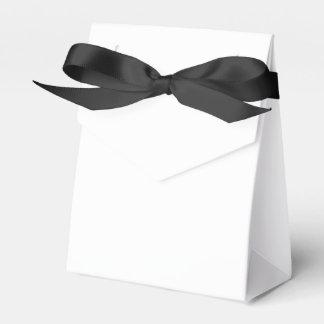 Ballotin fait sur commande de tente (ruban noir) boites faveurs de mariage