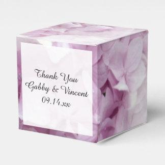 Ballotin floral de mariage d'hortensia rose mol ballotins