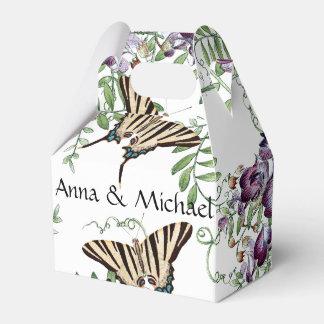 Ballotin floral de vigne de fleurs de papillons ballotins