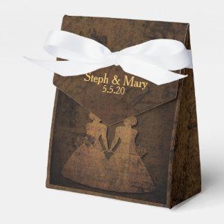 Ballotin lesbien de mariage de livre de contes boites faveurs de mariage