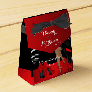 Ballotin noir rouge de talons hauts de chaussure boites faveurs de mariage
