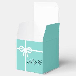 Ballotins Aqua et boîte de partie d'arcs de blanc
