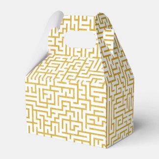 Ballotins Art moderne de labyrinthe élégant - or et blanc