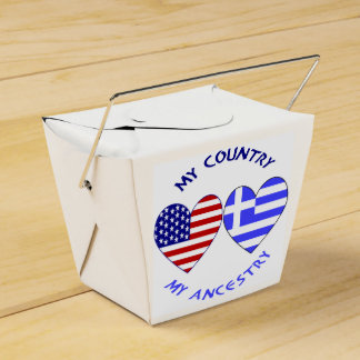 Ballotins Ascendance grecque de pays de drapeau de coeur