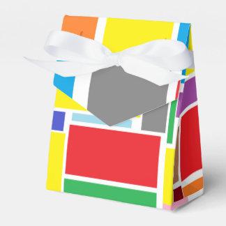Ballotins Ballotin de papier de cadeau de blocs colorés