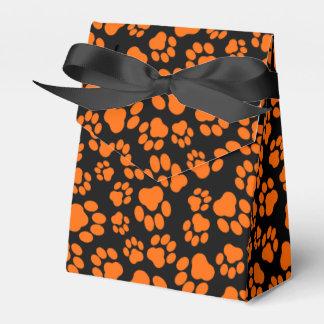 Ballotins Ballotin Orange-et-Noir d'empreinte de patte