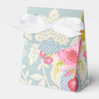 Ballotins Boîte-cadeau florale bleue chic minable de cadeau