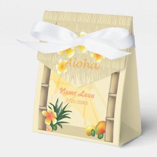 Ballotins Boîte de cadeau de hutte de Luau Tiki
