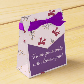 Ballotins Boîte de Cadeau « From your wife who loves you ! «