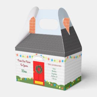 Ballotins Boîte de vacances personnalisée par maison de Noël