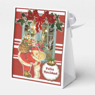 Ballotins Cajita pour cadeau de Noël, Sainte Claus