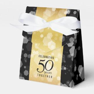 Ballotins Cinquantième anniversaire de mariage d'or rayé