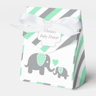 Ballotins Éléphant vert et gris de rayure