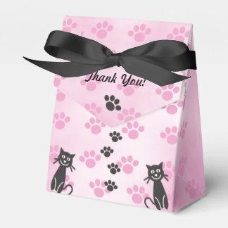 Ballotins Empreintes de pattes de noir de rose de chat de
