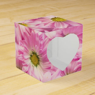 Ballotins Faveur/boîte-cadeau - marguerites roses de Gerbera