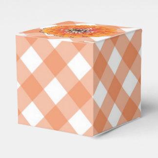Ballotins Faveur/boîte-cadeau - Zinnia orange sur le trellis