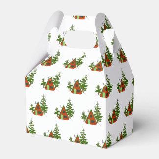 Ballotins L'hiver : Boîte-cadeau de motif de cabine de
