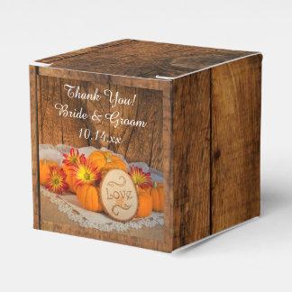 Ballotins Mariage de automne rustique en bois de citrouilles