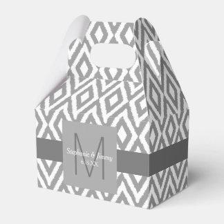 Ballotins Mariage gris et blanc de monogramme de motif