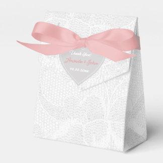 Ballotins Merci gris rose blanc de faveur de mariage de