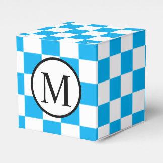 Ballotins Monogramme simple avec le damier bleu