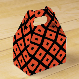 Ballotins Motif Checkered géométrique orange et noir