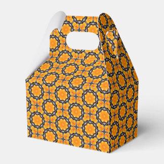 Ballotins Motif de fleur géométrique orange