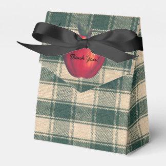 Ballotins Plaid vert de pommes rouges