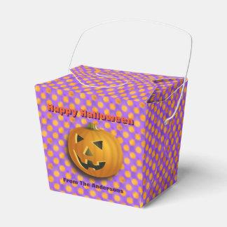 Ballotins Pois de Jack-o'-lantern, pourpre et orange