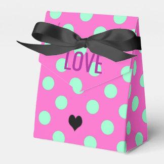 Ballotins Rose d'amour et boîtes de partie de faveur de pois